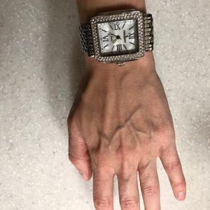 Silver Peugeot watch